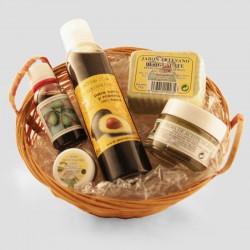 Cesta de 5 productos de Aceite de Aguacate con corporal