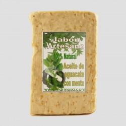 Jabón Artesano de Aguacate con Menta (Pack 5 Uds.)