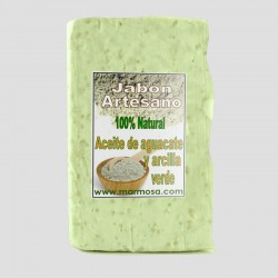 Jabón Artesano de Aguacate con Arcilla Verde (Pack 5 Uds.)