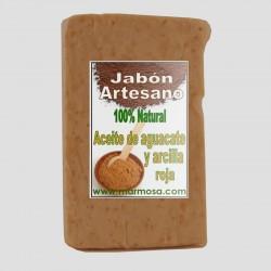 Jabón Artesano de Aguacate con Arcilla Roja (Pack 5 Uds.)
